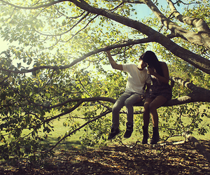couple, love, and tree image