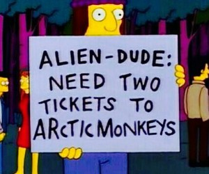 arctic monkeys, simpsons, and tickets image