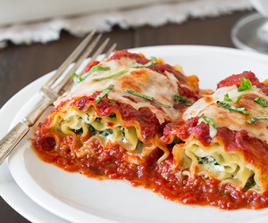 cheese, italian, and spinach image