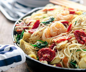 pasta, shrimp, and seafood image