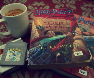 harry potter, pokemon, and coffee image