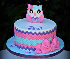 bow, cake, and chevron image