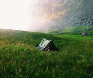 nature, camping, and green image