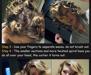 hair, curls, and diy image