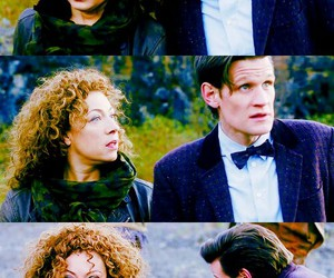 the doctor, matt smith, and river song image