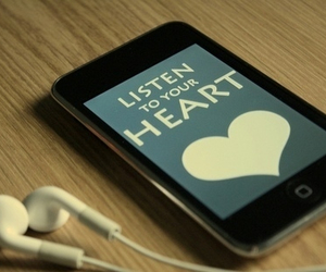 heart, iphone, and listen image