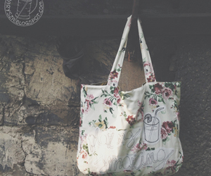 bag, beach, and flower image