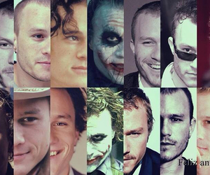 heath ledger, black and white, and rip image