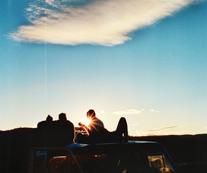 friends, sky, and summer image