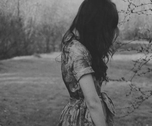 girl, dress, and black and white image