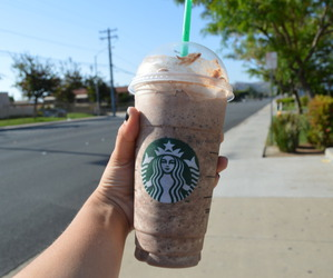 starbucks, photography, and summer image