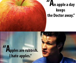 apples, quote, and eleventh doctor image