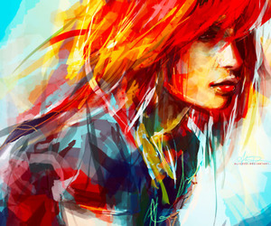 art, hayley williams, and paramore image