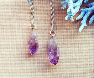 amethyst necklace, fashion necklace, and gemstone necklace image