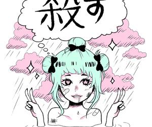 anime, kawaii, and pastel goth image