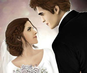 kristen stewart, robert pattinson, and wedding image