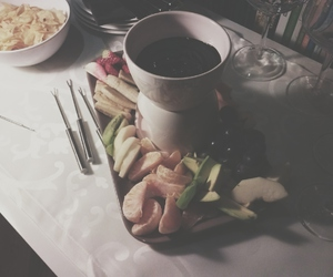 chocolate, delicious, and fondue image