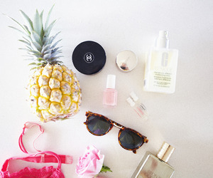 summer, chanel, and pineapple image