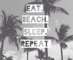 beach, summer, and sleep image