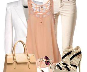 girl, outfit, and peach image
