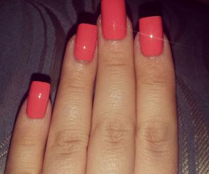coral, do it yourself, and nail art image