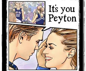 lucas, one tree hill, and peyton image