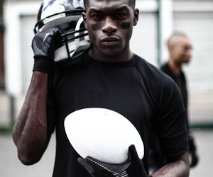 american football, black and white, and sporty image