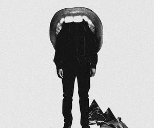 lips, art, and man image