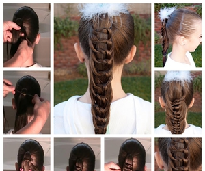 hairstyle, beauty, and diy image