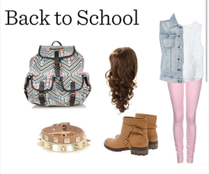 outfit, fashion, and back to school image
