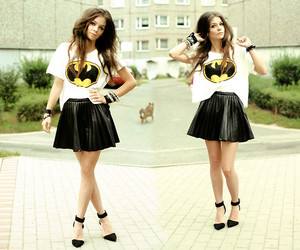 batman, skirt, and style image
