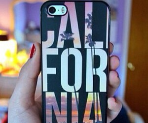 california, case, and iphone image