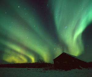 finland, northern lights, and winter image