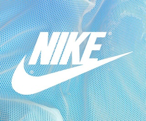nike, blue, and wallpaper image