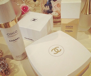 chanel, make up, and white image