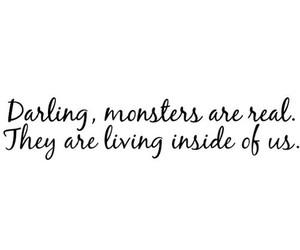 monster, darling, and inside image