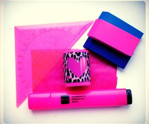 diy, pink, and school supplies image