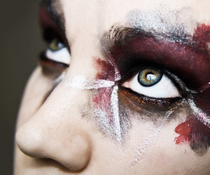 art, beautiful, and face paint image