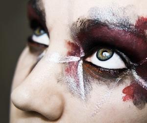art, face paint, and makeup image