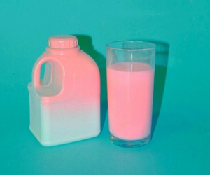 pink, milk, and grunge image