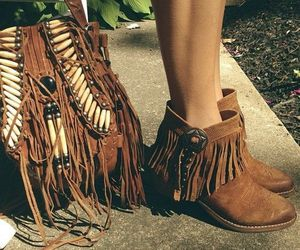 bag, boots, and shoes image