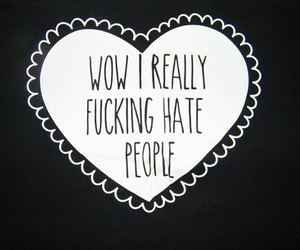 quote, hate, and people image