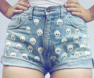 fashion, skull, and shorts image