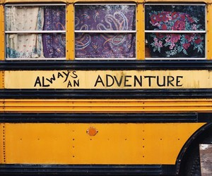 adventure, bus, and hippie image