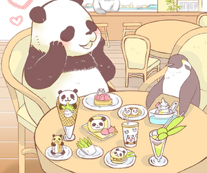 panda, cute, and penguin image