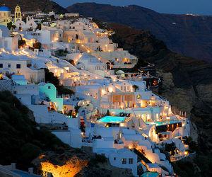 Greece, santorini, and light image