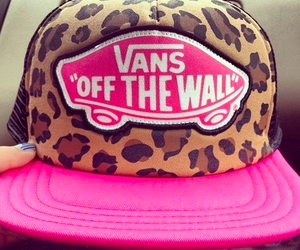 vans, pink, and cap image