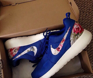 blue, cool, and floral image