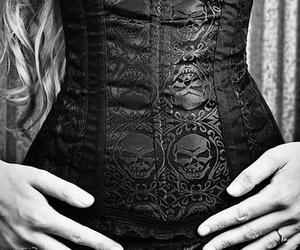 corset, gothic, and black image