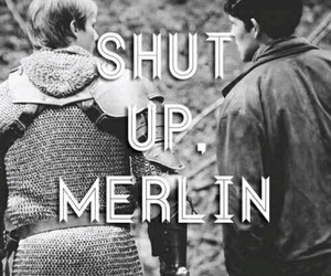 merlin, arthur, and shut up image
